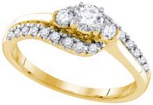 14K Yellow Gold Jewelry 0.50 ctw Diamond Bridal Ring - GD#92992 - REF#Z51W6