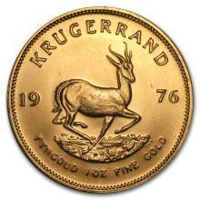 One 1976 South Africa 1 oz Gold Krugerrand - WJA87903