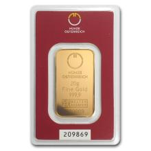 One 20 gram Gold Bar - Austrian Mint (In Assay) - WJA78377