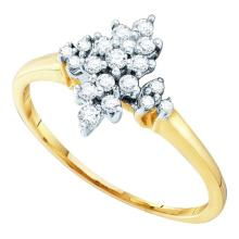 10K Yellow Gold Jewelry 0.25 ctw Diamond Ladies Ring - GD#26642