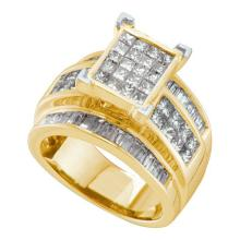 14K Yellow Gold Jewelry 2.7 ctw Diamond Ladies Ring - GD#26917