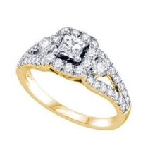 14K Yellow Gold Jewelry 1.25 ctw Diamond Bridal Ring - GD#68779