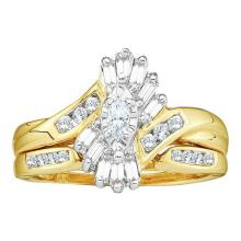 14K Yellow Gold Jewelry 0.50 ctw Diamond Bridal Ring Set - GD#7728