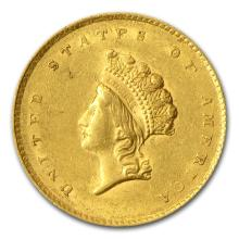 One $1 Indian Head Gold Type 2 AU (Random Years) - WJA63748