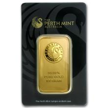 One 100 gram Gold Bar - Perth Mint (In Assay) - WJA78889