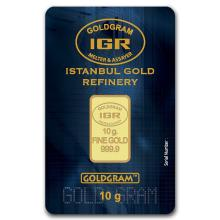 One 10 gram Gold Bar - Istanbul Gold Refinery (In Assay) - WJA61575
