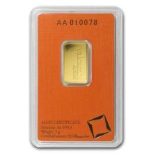 One 5 gram Gold Bar - Valcambi (In Assay) - WJA77422