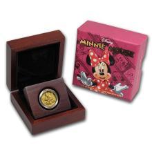 One 2014 Niue 1/4 oz Proof Gold $25 Disney Minnie Mouse - WJA85586