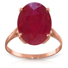 Genuine 7.5 ctw Ruby Ring Jewelry 14KT Rose Gold - GG#4171