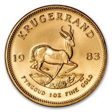 One 1983 South Africa 1 oz Gold Krugerrand - WJA88134