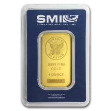 One 1 oz Gold Bar - Sunshine Mint New Design - WJA72471