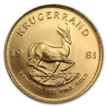One 1981 South Africa 1 oz Gold Krugerrand - WJA88631