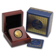 One 2015 Niue 1/4 oz Proof Gold $25 Lunar Goat - WJA85160