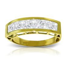 Genuine 2.25 ctw White Topaz Ring Jewelry 14KT Yellow Gold - GG#3534