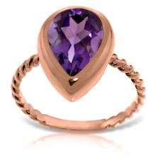 Genuine 2.5 ctw Amethyst Ring Jewelry 14KT Rose Gold - GG#5475