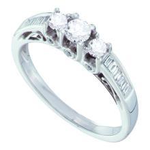 14K White Gold Jewelry 0.51 ctw Diamond Bridal Ring - GD#53120