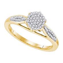 10K Yellow Gold Jewelry 0.18 ctw Diamond Ladies Ring - GD#81552
