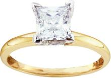 14K Yellow Gold Jewelry 0.90 ctw Diamond Solitaire Ring - GD#51244