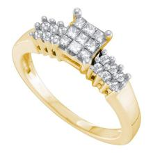 14K Yellow Gold Jewelry 0.32 ctw Diamond Ladies Ring - GD#53516