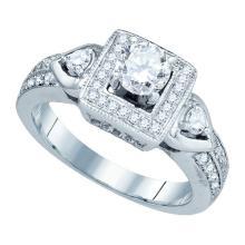14K White Gold Jewelry 1.0 ctw Diamond Bridal Ring - GD#73361
