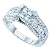 14K White Gold Jewelry 1.5 ctw Diamond Ladies Ring - GD#39980