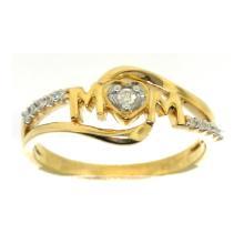 14K Yellow Gold Jewelry 0.07 ctw Diamond Ladies Ring - GD#39681