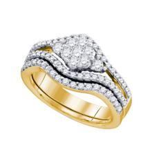 10K Yellow Gold Jewelry 0.74 ctw Diamond Bridal Ring Set - GD#74347