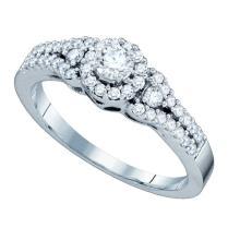 14K White Gold Jewelry 0.55 ctw Diamond Bridal Ring - GD#65402