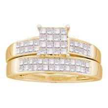 14K Yellow Gold Jewelry 0.75 ctw Diamond Bridal Ring Set - GD#22579
