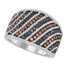 10K White Gold Jewelry 1.56 ctw Multi-color Diamond Ladies Ring - GD#85669