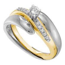 10K 2Tone Gold Jewelry 0.25 ctw Diamond Bridal Ring - GD#41251