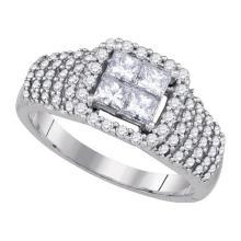 14K White Gold Jewelry 1.0 ctw Diamond Bridal Ring - GD#86377