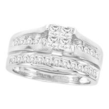 10K Yellow Gold Jewelry 0.32 ctw Diamond Bridal Ring Set - GD#67796