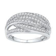 10K White Gold Jewelry 0.42 ctw Diamond Ladies Ring - GD#97211