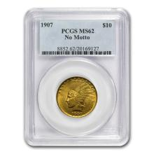 One 1907 $10 Indian Gold Eagle No Motto MS-62 PCGS