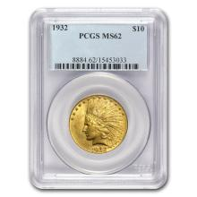 One $10 Indian Gold Eagle MS-62 PCGS (Random Year)