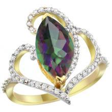 Natural 3.33 ctw Mystic-topaz & Diamond Engagement Ring 14K Yellow Gold - SC#R275571Y08