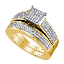 10K Yellow Gold Jewelry 0.40 ctw Diamond Bridal Ring Set - ID#R42L2-WGD63123