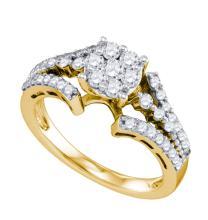 10K Yellow Gold Jewelry 0.74 ctw Diamond Ladies Ring - ID#J51R6-WGD74365
