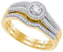 10K Yellow Gold Jewelry 0.33 ctw Diamond Bridal Ring Set - ID#L37Y2-WGD91847
