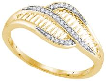 10K Yellow Gold Jewelry 0.08 ctw Diamond Ladies Ring - ID#X10A8-WGD91931
