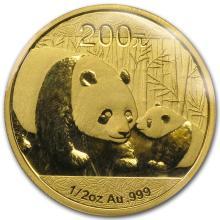 One 2011 China 1/2 oz Gold Panda BU (Sealed) - WJA59977