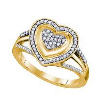 10K Yellow Gold Jewelry 0.25 ctw Diamond Ladies Ring - ID#Z30P1-WGD64682