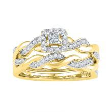 10K Yellow Gold Jewelry 0.33 ctw Diamond Ladies Ring - ID#R30L1-WGD97259