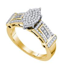 10K Yellow Gold Jewelry 0.33 ctw Diamond Ladies Ring - ID#A30N1-WGD63810