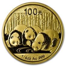 One 2013 China 1/4 oz Gold Panda BU (Sealed) - WJA72453