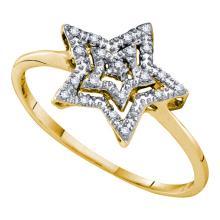 10K Yellow Gold Jewelry 0.04 ctw Diamond Ladies Ring - ID#H7W3-WGD55321