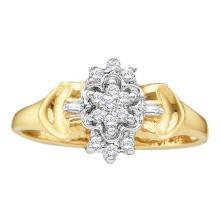 10K Yellow Gold Jewelry 0.10 ctw Diamond Ladies Ring - ID#X8A5-WGD10015