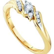 10K Yellow Gold Jewelry 0.10 ctw Diamond Ladies Ring - ID#P14V5-WGD18388