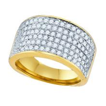 10K Yellow Gold Jewelry 1.5 ctw Diamond Ladies Ring - ID#Y84X1-WGD78920